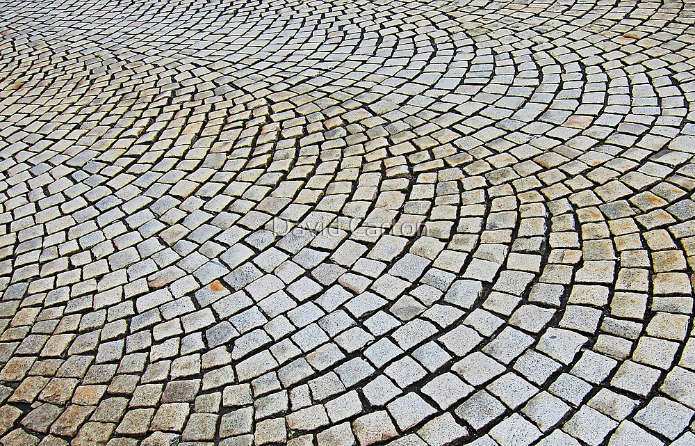 Cobbled stone, Bergen, Norway by David Carton