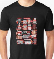 Streat Town on Black T-Shirt