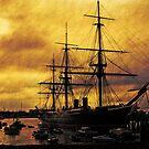 HMS Warrior, Portsmouth Dockyard, UK by David Carton