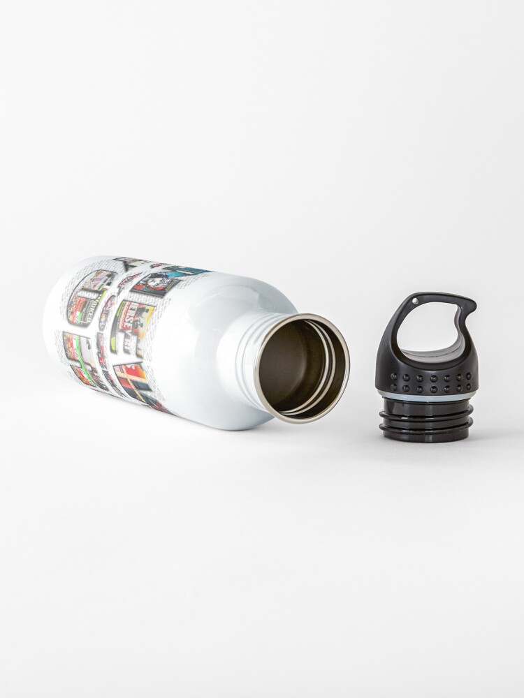 Alternate view of NEW YORK CITY (colour photo-filled type on B&W type background) Water Bottle