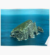 Piercy Island off Cape Brett, New Zealand.......! Poster
