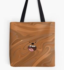 We Bare Bears Grizzly Marble Tote Bag