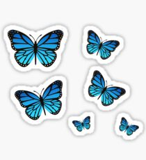 Blue Butterfly Pack Sticker