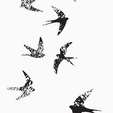 Charcoal Swallows by coltrane