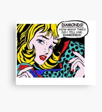 Roy Lichtenstein Comic Art - Girl with Gloves Canvas Print