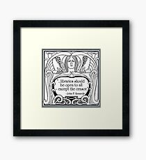 JFK Quote About Libraries Framed Print