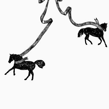Horse Ribbon Bows by coltrane