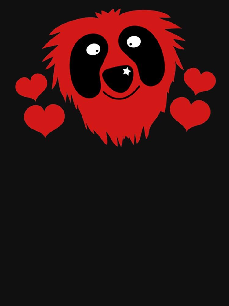 divertido grover rojo como monstruo con corazones de amor de goplak79