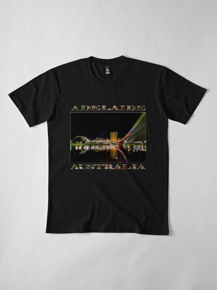 Alternate view of Adelaide Riverbank at Night (poster on black) Premium T-Shirt