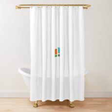 Minimalist Gumball Shower Curtain