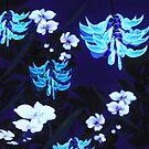 Blue Jungle Floral by SandAndChi
