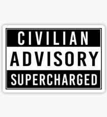 Advisory - supercharged Sticker