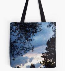 Blue Cloud Silhouette Tote Bag