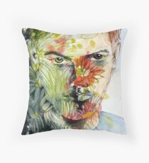 The Green Man Emerges Throw Pillow