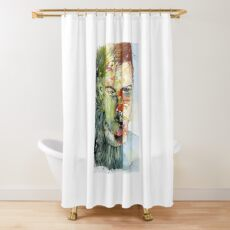 The Green Man Emerges Shower Curtain