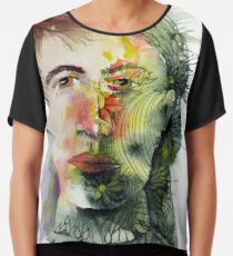 The Green Man Recedes Chiffon Top