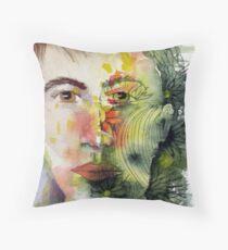 The Green Man Recedes Throw Pillow