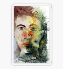 The Green Man Recedes Transparent Sticker