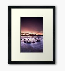 Opossum Bay Sunset Framed Print