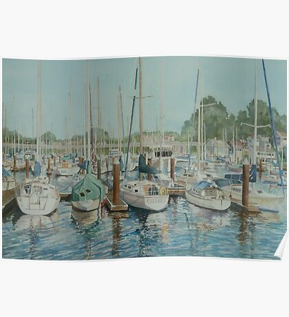 Harbor Reflections Poster