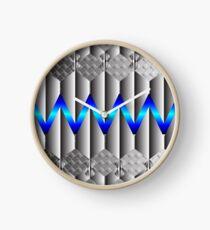 Metallight Overlord Blue Seamless Pattern Clock