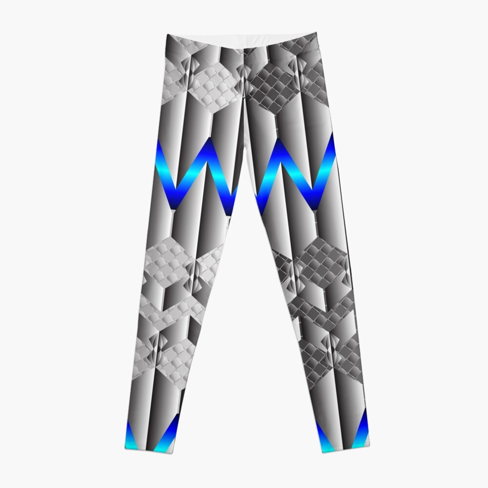 Metallight Overlord Blue Seamless Pattern Leggings