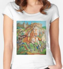 Polish hussar attack Women's Fitted Scoop T-Shirt