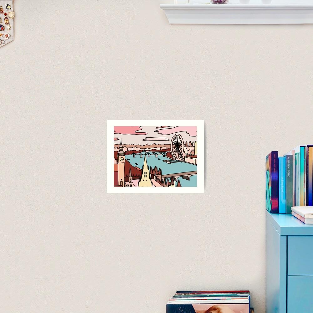 London skyline by Sasa Elebea Art Print