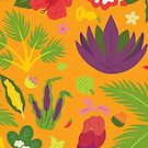 South Pacific Plants pattern by saralynncreativ