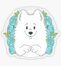 Marshall the Samoyed Transparent Sticker