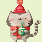 Cute Cat Christmas by colonelle