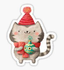Cute Cat Christmas Sticker