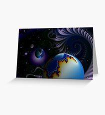 Mandel Planets Greeting Card