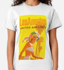 Los Angeles - Vintage Airline Travel Poster  Classic T-Shirt