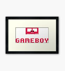 Gameboy Monster Framed Print