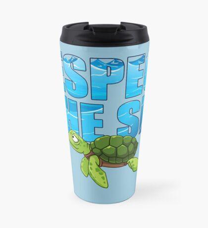 Respect the Sea Travel Mug