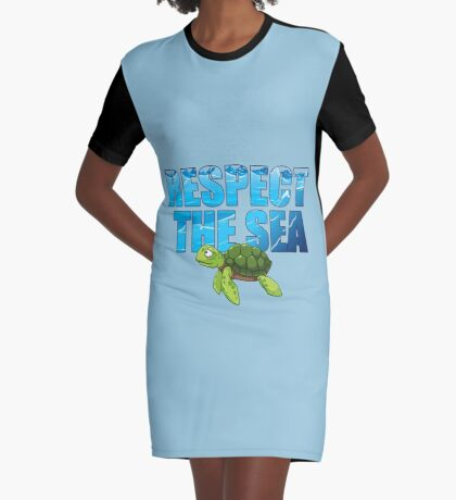 Respect the Sea Graphic T-Shirt Dress