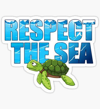 Respect the Sea Sticker