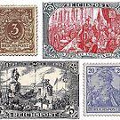 Reichspost Stamps ...Kaiser Wilhelm II Era. by edsimoneit