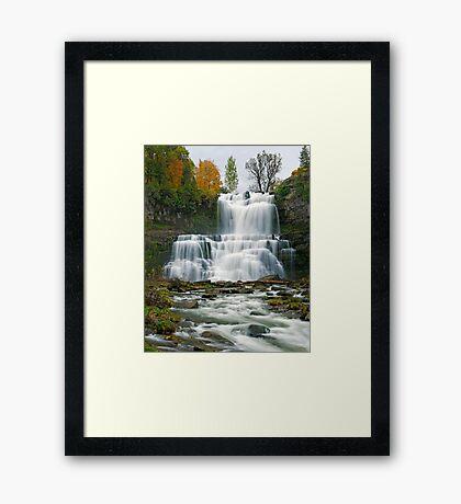 High Flow in Autumn - Chittenango Falls Framed Print