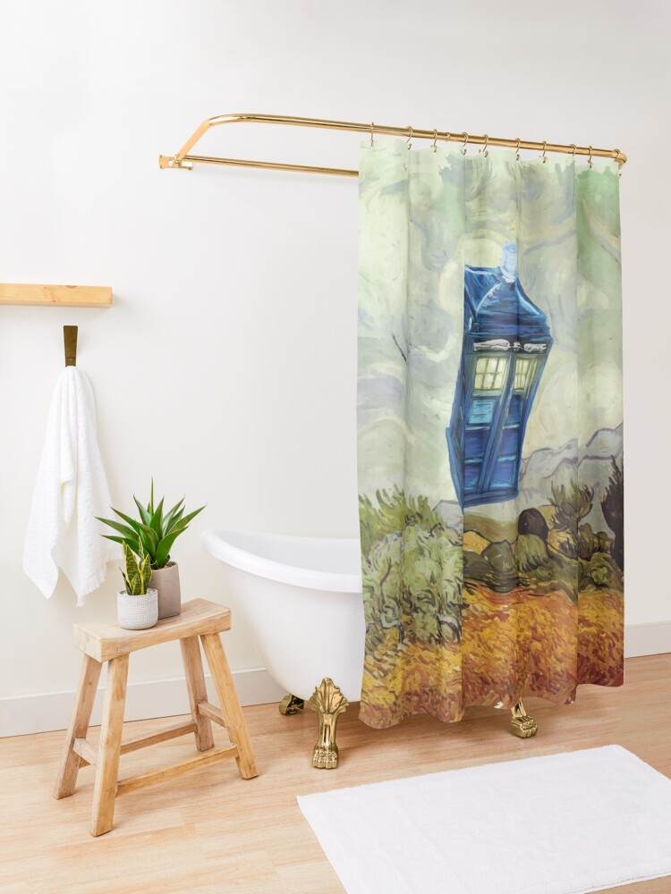 Alternate view of Vincent and the Doctor Shower Curtain