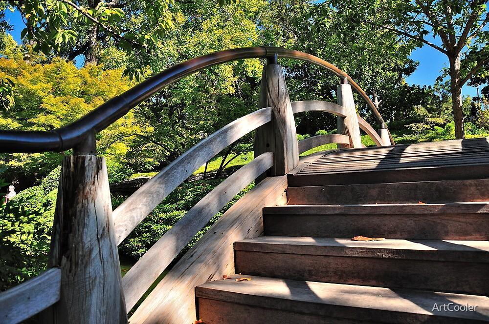 Bridge Over Japanese Gardens by ArtCooler