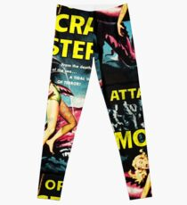 Attack of the Crab Monsters! Vintage  Leggings