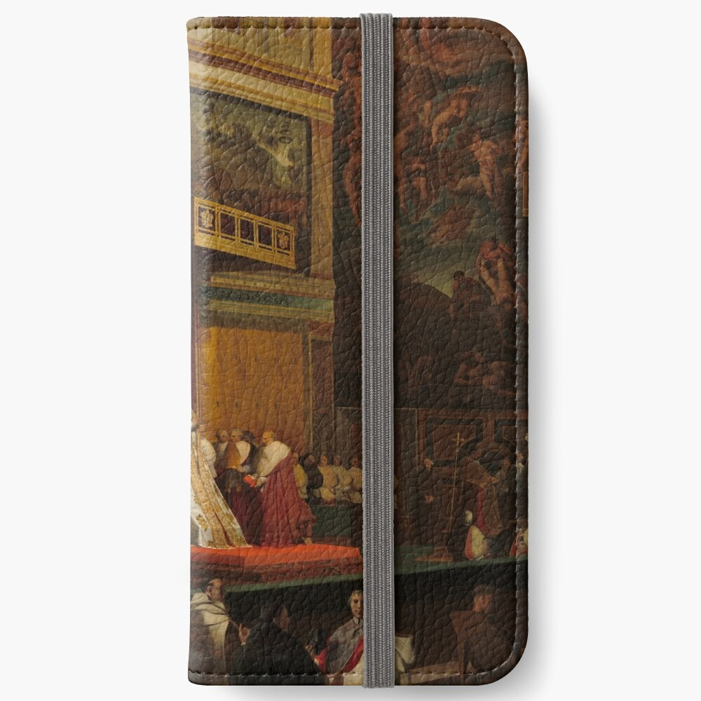 Pope Pius VII in the Sistine Chapel Oil Painting by Jean-Auguste-Dominique Ingres iPhone Wallet