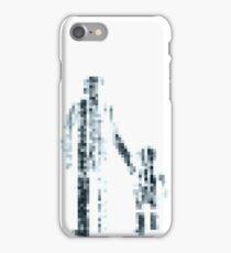 8 bit pixel pedestrians (dark) iPhone Case/Skin
