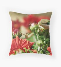 Larry the Amazing  and Almost Squeaky Clean Flying Lizard Throw Pillow