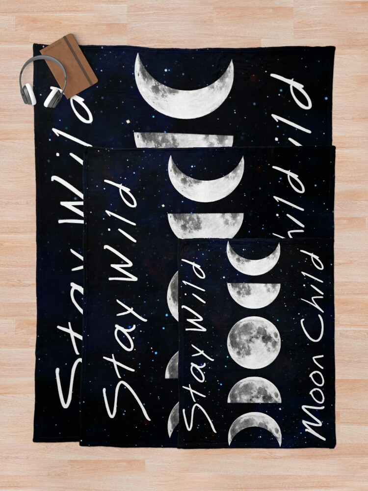Alternate view of Stay Wild Moon Child Throw Blanket