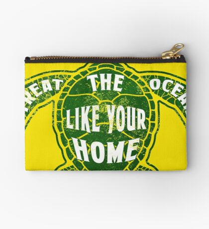 Treat the Ocean like your Home Zipper Pouch