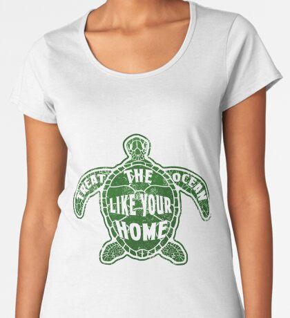 Treat the Ocean like your Home Premium Scoop T-Shirt