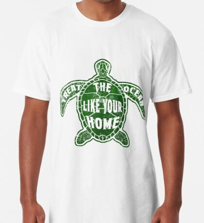 Treat the Ocean like your Home Long T-Shirt